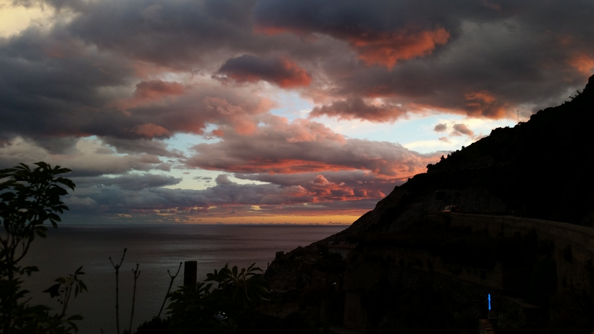 Sunset at Erchie Amalfi Coast