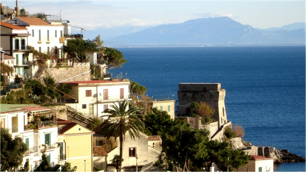 View of the village of Erchie in the Amalfi Coast